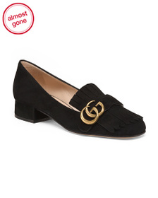 reveal designer Made In Italy Suede Low Heel Shoes
