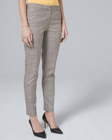 Luxe Suiting Plaid Slim Ankle Pants