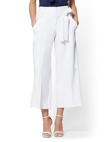 Madie Crop Pant - White - 7th Avenue - New York &