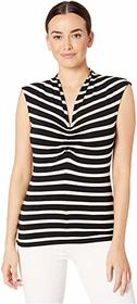 Vince Camuto Sleeveless CF Cinched V-Neck Shadow S