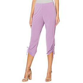 Slinky® Brand Cropped Pull-On Pant with Ruched Tie