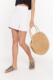 Nasty Gal Womens Tan WANT Another Round Woven Bag