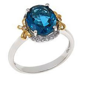 Colleen Lopez 2.81ctw London Blue Topaz and White