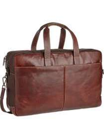 Joseph Abboud Brown Leather Duffle Bag
