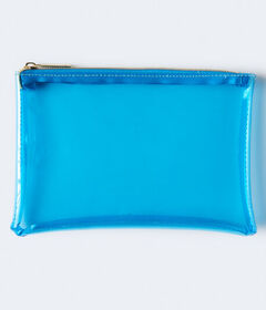 Aeropostale Clear Colored Zip Pouch