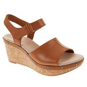 Collection by Clarks Annadel Clover Leather Wedge