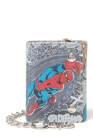 Marvel Marvel Spider-Man Leather Chain Trifold Wal