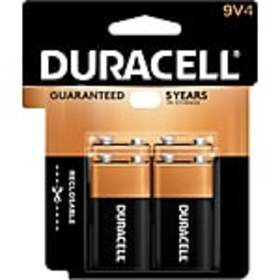 Duracell Coppertop 9V Alkaline Batteries, 4/Pack