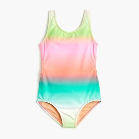 J. Crew Girls' tie-back one-piece bathing suit