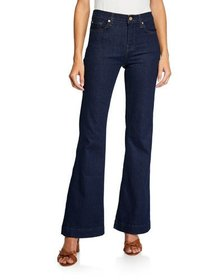 7 For All Mankind Tailorless Dojo Flared-Leg Jeans