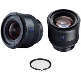 ZEISS Batis 25mm and 85mm Lens Kit with UV Filters