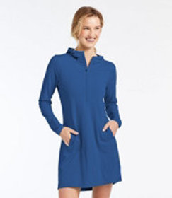 LL Bean Sand Beach Cover-Up, Hooded Tunic