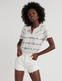 Lucky Brand Trim Popover Top