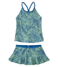 LL Bean Girls' BeanSport Skirted Tankini, Print