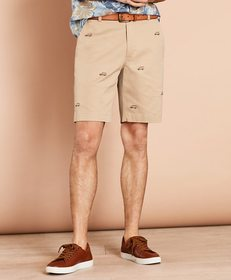 Brooks Brothers Embroidered Car Cotton Twill Short