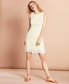 Brooks Brothers Cotton Crochet Lace Dress