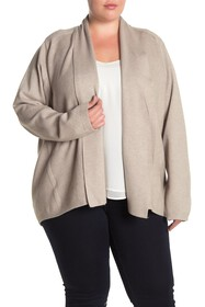 Cyrus Draped Open Front Cardigan (Plus Size)