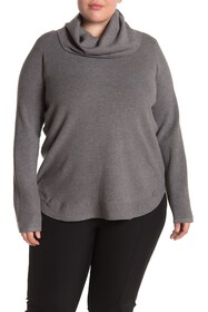 Cyrus Solid Cowl Neck Pullover Sweater (Plus Size)