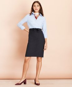 Brooks Brothers Mixed-Media Shirt Dress