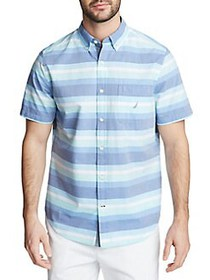 Nautica Striped Short-Sleeve Button Down Shirt TRU