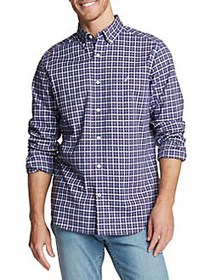 Nautica Navtech Plaid Button-Down Shirt PURPLE
