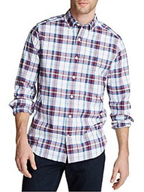 Nautica Navtech Plaid Button-Down Shirt NATURAL