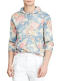 Polo Ralph Lauren Floral-Print Spa Terry Hoodie RO
