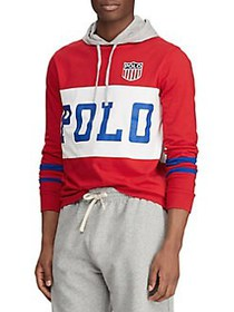 Polo Ralph Lauren Cotton Jersey Hooded Tee RED