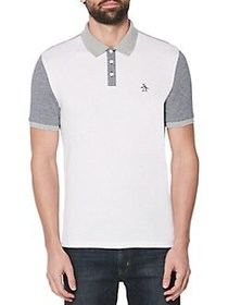 Original Penguin Colorblock Polo BRIGHT WHITE