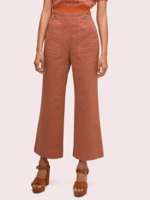 denim zip flare pant