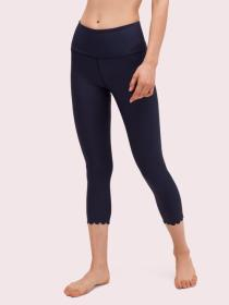 scallop crop legging