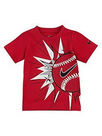 Nike Little Boy's Baseball Logo Cotton Tee RED