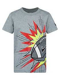 Nike Little Boy's Football Logo Graphic Cotton-Ble