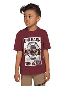 Dex Little Boy's Graphic Cotton Tee MAROON