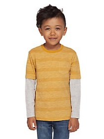 Dex Little Boy's Striped Cotton Blend Twofer Pocke
