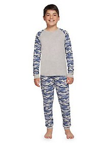 Dex Boy's 2-Piece Camo Long Sleeve & Pants Pajama