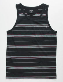 HURLEY Dri-FIT Harvey Stripe Black Mens Pocket Tan