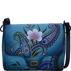 ANNA by Anuschka Hand Painted Leather Flap Messeng