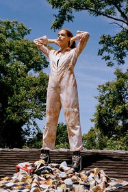 Kimchi Blue Tie-Dye Coverall Jumpsuit