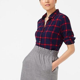 J. Crew Factory factory womens Flannel shirt in bo