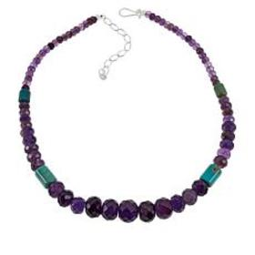 Jay King Amethyst and New Red Skin Turquoise Bead