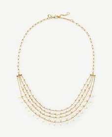 Pearlized Multistrand Necklace