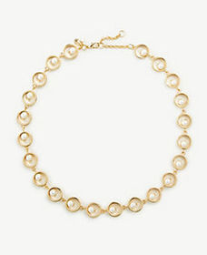 Halo Pearlized Statement Necklace