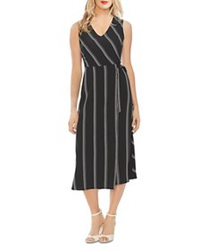 VINCE CAMUTO - Pinstriped Tie-Waist Dress