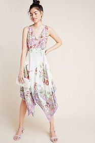 Anthropologie Analise Floral Midi Dress