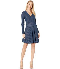 BCBGMAXAZRIA Fit & Flare Knit Dress