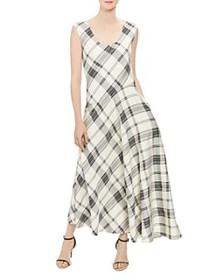 Theory - Plaid Tango Dress