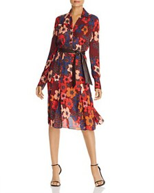 Elie Tahari - Brinx Belted Floral-Print Dress