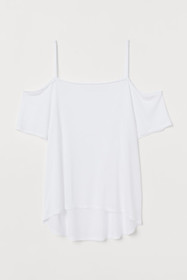 Open-shoulder Jersey Top