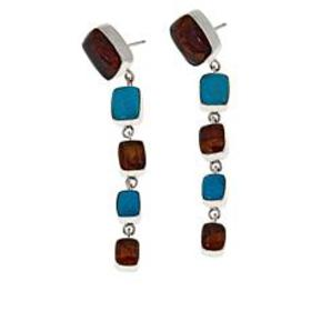 Jay King Sterling Silver Amber and Azure Peaks Tur